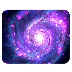 Ultra Violet Whirlpool Galaxy Double Sided Flano Blanket (medium)  by augustinet