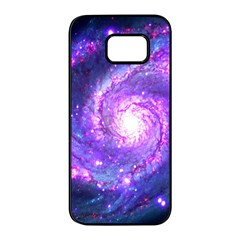 Ultra Violet Whirlpool Galaxy Samsung Galaxy S7 Edge Black Seamless Case by augustinet