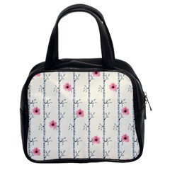 Minimalist Floral Classic Handbags (2 Sides) by augustinet