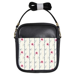 Minimalist Floral Girls Sling Bags by augustinet