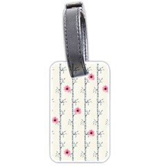 Minimalist Floral Luggage Tags (two Sides) by augustinet