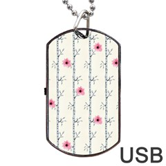 Minimalist Floral Dog Tag Usb Flash (two Sides) by augustinet