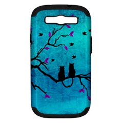 Lovecats Samsung Galaxy S Iii Hardshell Case (pc+silicone) by augustinet