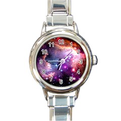 Deep Space Dream Round Italian Charm Watch by augustinet