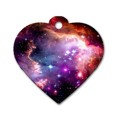 Deep Space Dream Dog Tag Heart (one Side) by augustinet
