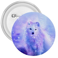 Arctic Iceland Fox 3  Buttons by augustinet