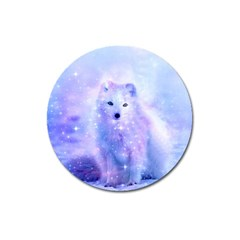 Arctic Iceland Fox Magnet 3  (round) by augustinet