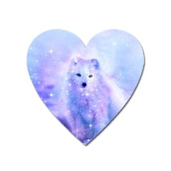 Arctic Iceland Fox Heart Magnet by augustinet