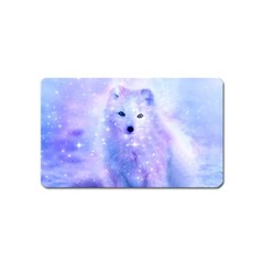 Arctic Iceland Fox Magnet (name Card) by augustinet