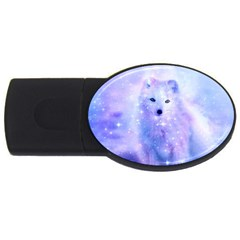 Arctic Iceland Fox Usb Flash Drive Oval (2 Gb) by augustinet