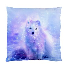 Arctic Iceland Fox Standard Cushion Case (one Side) by augustinet