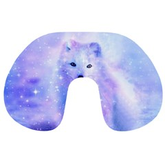 Arctic Iceland Fox Travel Neck Pillows by augustinet