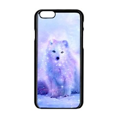 Arctic Iceland Fox Apple Iphone 6/6s Black Enamel Case by augustinet