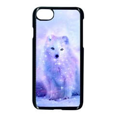 Arctic Iceland Fox Apple Iphone 7 Seamless Case (black) by augustinet