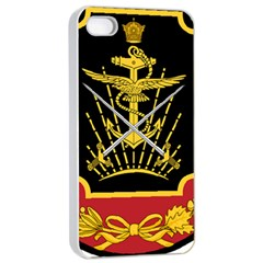 Logo Of Imperial Iranian Ministry Of War Apple Iphone 4/4s Seamless Case (white) by abbeyz71
