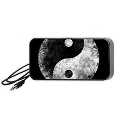 Grunge Yin Yang Portable Speaker by Valentinaart