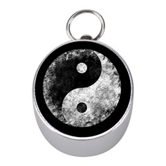 Grunge Yin Yang Mini Silver Compasses by Valentinaart
