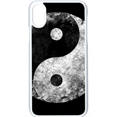 Grunge Yin Yang Apple Iphone X Seamless Case (white) by Valentinaart
