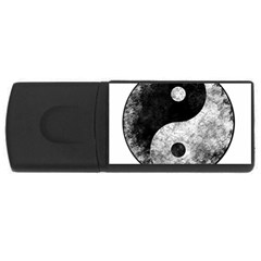 Grunge Yin Yang Rectangular Usb Flash Drive by Valentinaart