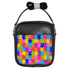 Colorful 10 Girls Sling Bags by ArtworkByPatrick