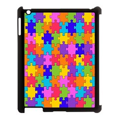 Colorful 10 Apple Ipad 3/4 Case (black) by ArtworkByPatrick