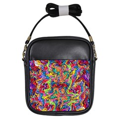 Colorful 12 Girls Sling Bags by ArtworkByPatrick