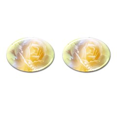 Beautiful Yellow Rose Cufflinks (oval) by FantasyWorld7