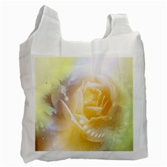 Beautiful Yellow Rose Recycle Bag (one Side) by FantasyWorld7