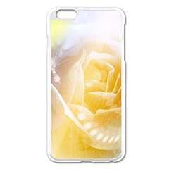 Beautiful Yellow Rose Apple Iphone 6 Plus/6s Plus Enamel White Case by FantasyWorld7