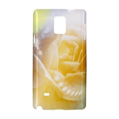 Beautiful Yellow Rose Samsung Galaxy Note 4 Hardshell Case by FantasyWorld7