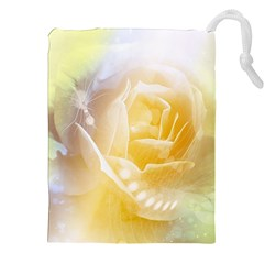 Beautiful Yellow Rose Drawstring Pouches (xxl) by FantasyWorld7