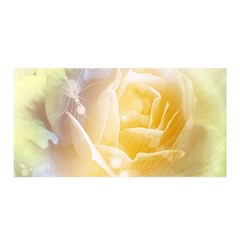 Beautiful Yellow Rose Satin Wrap by FantasyWorld7