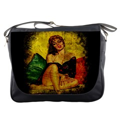 Pin Up Girl  Messenger Bags