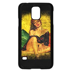 Pin Up Girl  Samsung Galaxy S5 Case (black) by Valentinaart