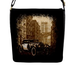 Vintage Old Car Flap Messenger Bag (l)