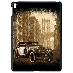 Vintage Old Car Apple Ipad Pro 9 7   Black Seamless Case by Valentinaart
