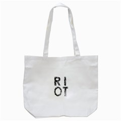 Riot Tote Bag (white) by Valentinaart