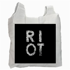 Riot Recycle Bag (two Side)  by Valentinaart