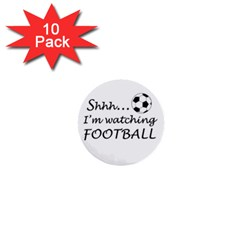 Football Fan  1  Mini Buttons (10 Pack)  by Valentinaart