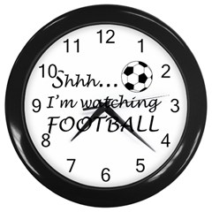 Football Fan  Wall Clocks (black) by Valentinaart