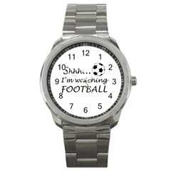 Football Fan  Sport Metal Watch
