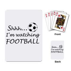 Football Fan  Playing Card