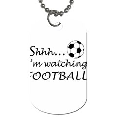 Football Fan  Dog Tag (two Sides) by Valentinaart