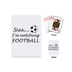 Football Fan  Playing Cards (mini)  by Valentinaart