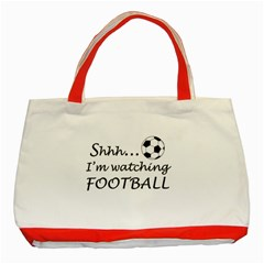 Football Fan  Classic Tote Bag (red) by Valentinaart