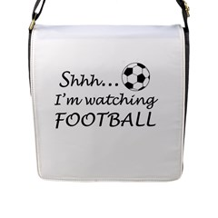 Football Fan  Flap Messenger Bag (l)  by Valentinaart