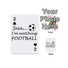 Football Fan  Playing Cards 54 (mini)  by Valentinaart