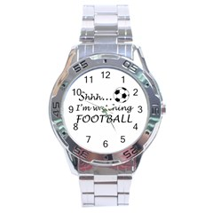Football Fan  Stainless Steel Analogue Watch by Valentinaart