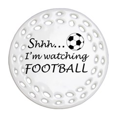 Football Fan  Ornament (round Filigree) by Valentinaart
