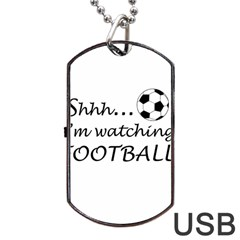 Football Fan  Dog Tag Usb Flash (two Sides) by Valentinaart